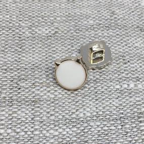 Пуговица ПР185 10 мм белая уп 12 шт фото