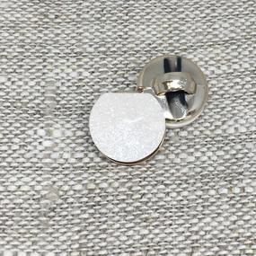 Пуговица ПР186 12 мм белая блеск уп 12 шт фото