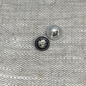 Пуговица ПР190 10 мм черная герб уп 12 шт фото