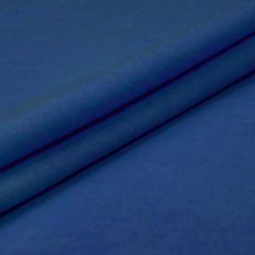Ткань на отрез фланель гладкокрашеная 150 см цвет синий фото