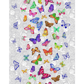 Полотно вафельное 50 см набивное арт 60 Тейково рис 5634 вид 1 Бабочки фото