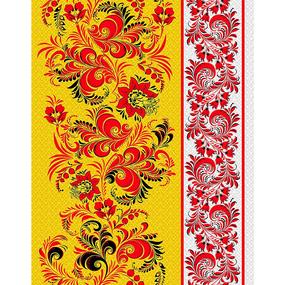 Полотно вафельное 50 см набивное арт 60 Тейково рис 5640 вид 1 Хохлома фото