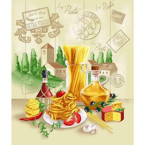 Полотно вафельное 50 см набивное арт 60 Тейково рис 5641 вид 1 Италия фото