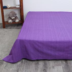 Простыня перкаль 2049310 Эко 10 фиолетовый 2 сп фото