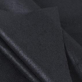 Ткань на отрез флизелин 90 см 25 гр/м2 цвет черный фото