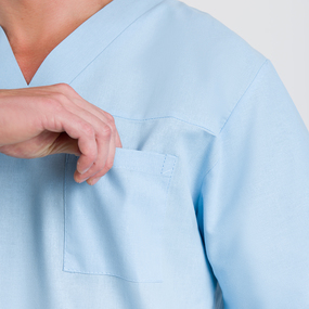 Костюм Хирург рукав короткий бязь ГОСТ цвет голубой 64-66 рост 182-188 фото