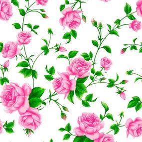 Ткань на отрез Тик 80 см 170 гр/м2 5232-1 Розы фото
