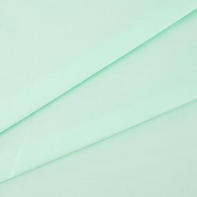 Ткань на отрез поплин гладкокрашеный 115 гр/м2 220 см 70035/1 цвет ментоловый Актив фото