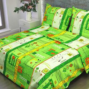 Комплект простыня 1.5 сп + 1 нав. 70/70 бязь 133/2 Стамбул цвет зеленый фото