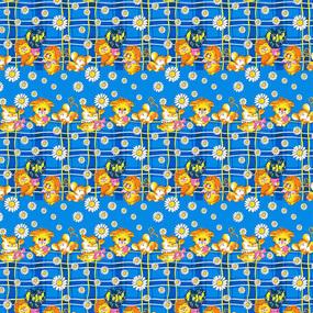 Бязь 120 гр/м2 детская 150 см 0837/2 цвет синий фото