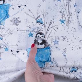 Ткань на отрез микрофлис Северные друзья 16169 фото