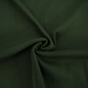 Ткань на отрез кашкорсе с лайкрой 5802-1 цвет темный хаки фото