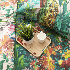 Постельное белье из перкаля 6658/1 Райская птица Семейный фото