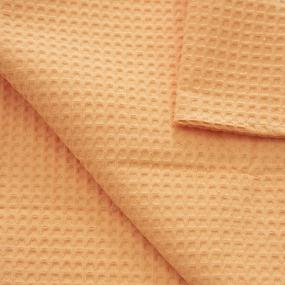 Полотенце вафельное банное Премиум 150/75 см цвет 131/3 оранжевый фото