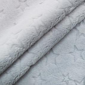 Отрез Плюш Минки Звезды Польша 44/170 см цвет светло-серый фото