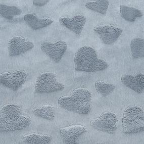Отрез Плюш Минки Сердечки Польша 26/53 см цвет серый фото