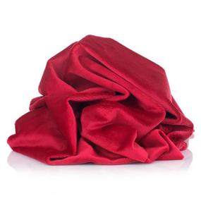 Отрез Плюш Минки гладкий Польша 50/168 см цвет красный фото