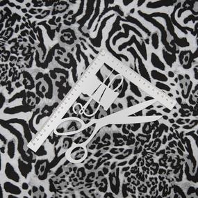 Ткань на отрез кулирка R2369-V1 Животный принт фото