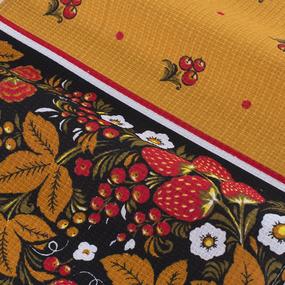 Набор вафельных полотенец 3 шт 35/70 см 195/3 Хохлома цвет желтый фото