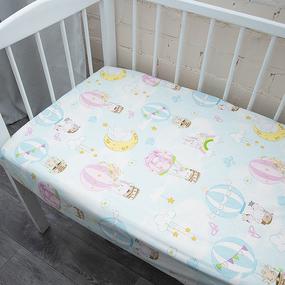 Простыня на резинке перкаль детская 13324/1 Воздушные шары 160/80/15 см фото