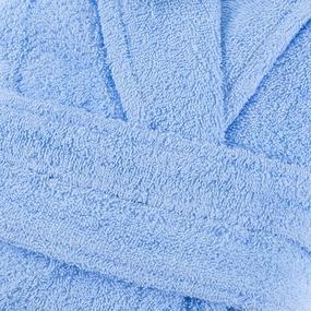 Халат женский махровый Элегия воротник шалька голубой р.52 фото