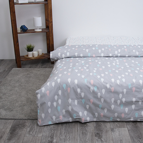 Детское постельное белье из поплина 1.5 сп Капельки 3057 фото