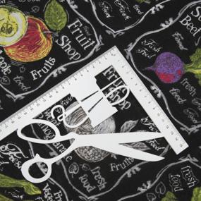 Ткань на отрез вафельное полотно набивное 150 см 3022-3 Фреш-бар цвет черный фото