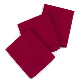 Набор вафельных полотенец Премиум 3 шт 45/70 см 066 бордо фото
