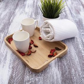 Полотенце вафельное банное Премиум 150/75 см белый фото