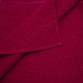 Полотенце вафельное банное Премиум 150/75 см цвет 066 бордо фото