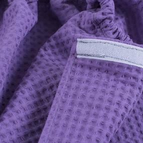 Вафельная накидка на резинке для бани и сауны Премиум женская цвет 622 сирень фото