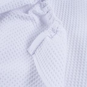 Вафельная накидка на резинке для бани и сауны Премиум мужская цвет белый фото