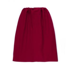 Вафельная накидка на резинке для бани и сауны Премиум мужская цвет 066 бордо фото