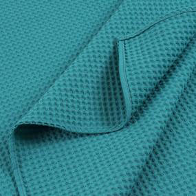 Вафельная накидка на резинке для бани и сауны Премиум мужская цвет 530 изумруд фото
