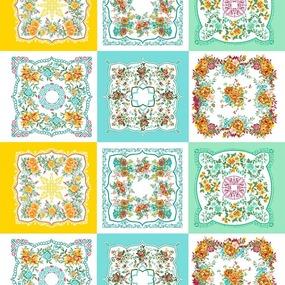 Ситец 95 см набивной арт 44 Тейково рис 21218 вид 1 Цветочная поляна фото