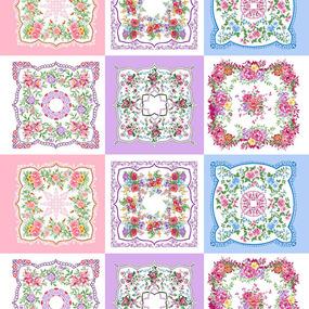 Ситец 95 см набивной арт 44 Тейково рис 21218 вид 2 Цветочная поляна фото