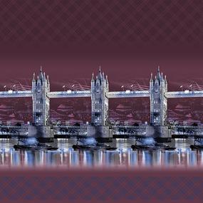 Бязь Премиум 220 см набивная Тейково рис 6638 вид 1 Ночной город фото