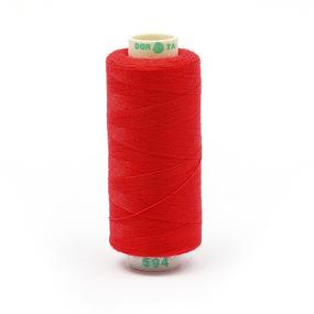 Нитки бытовые Dor Tak 40/2 366м 100% п/э, цв.594 красный фото