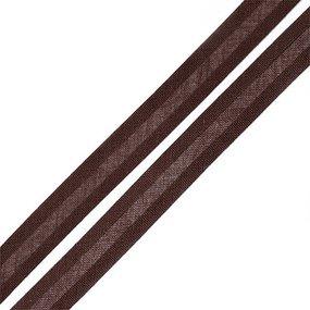 Косая бейка хлопок ширина 15 мм (132 м) цвет 7102 коричневый фото