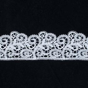 Кружево плетеное СЕВЕР белое CF 0518 5,5 см упаковка 5 м фото