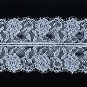 Кружево реснички 19см J016 белый упаковка 3 м фото