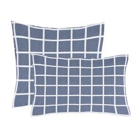 Наволочка поплин 28254/1 Клетка серый основа 50/70 фото