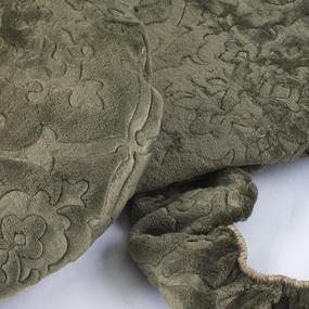 Чехол на табурет велсофт Moreska 017-ОРМ размер 35/35 см фото