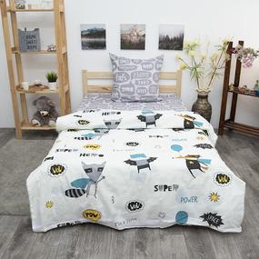 Детское постельное белье из бязи 1.5 сп 3076-2 Супергерои фото