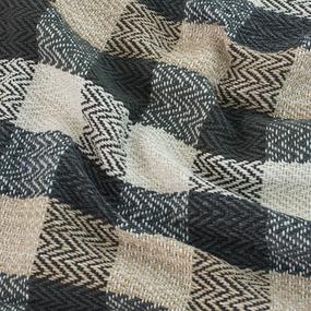 Плед Зигзаг 100% ПАН 500 гр цвет черный 150/210 см фото