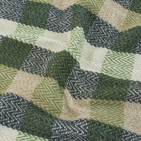 Плед Зигзаг 100% ПАН 500 гр цвет зеленый 150/210 см фото