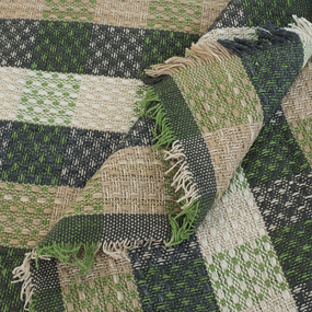 Плед Рогожка 100% ПАН 500 гр цвет зеленый 150/210 см фото