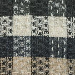 Плед Ромбики 100% ПАН 500 гр цвет черный 150/210 см фото