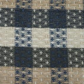 Плед Ромбики 100% ПАН 500 гр цвет синий 150/210 см фото