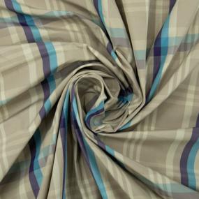 Ткань на отрез дюспо КТ0206 Клетка цвет голубой фото